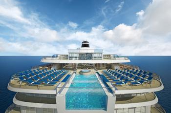 Die VIKING STAR wird einen Infinity Pool haben (Grafik: Viking Ocean Cruises)
